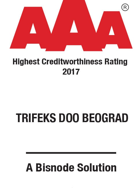 trifeks - bisnode creditworthiness rating aaa 2017