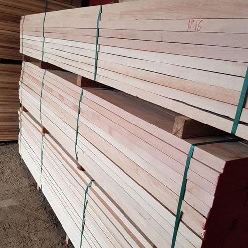 beech slightly steamed square edged lumber 3